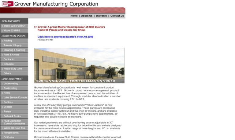 Grover Manufacturing Corporation