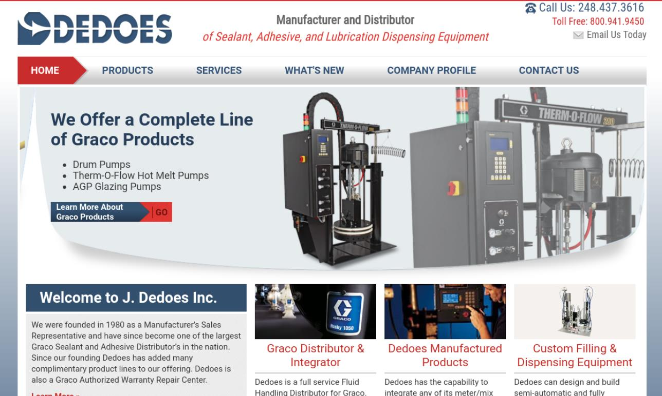 J  Dedoes Inc    Lubricating Systems